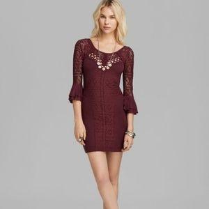 Free People Dark Red Crochet Dress